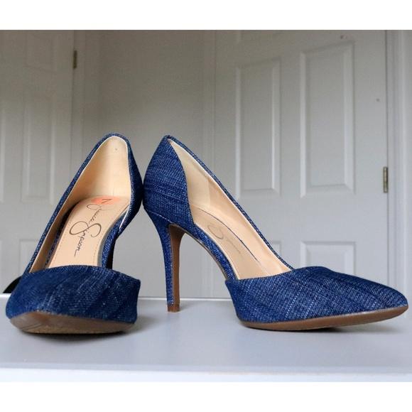 1b5ebfcef6b Jessica Simpson Shoes - FLASH SALE Size 7 Jessica Simpson Blue Denim Heels